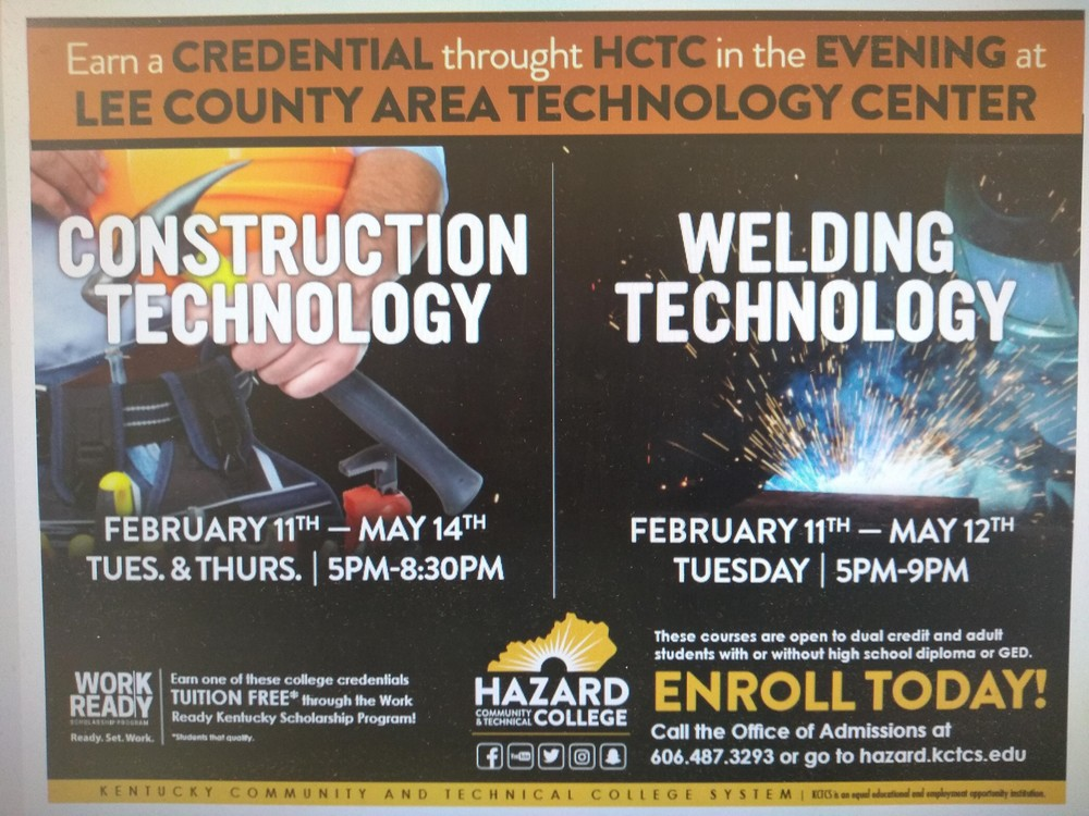 HCTC is offering Skilled trade classes at Lee ATC