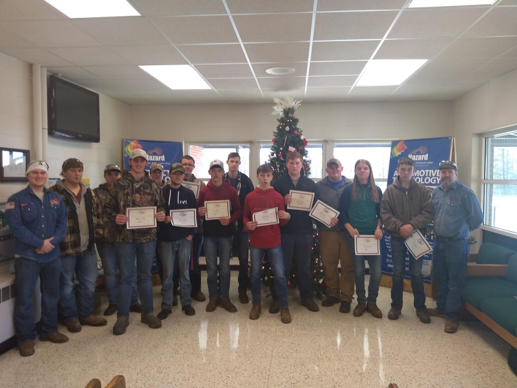 Students from the welding contest