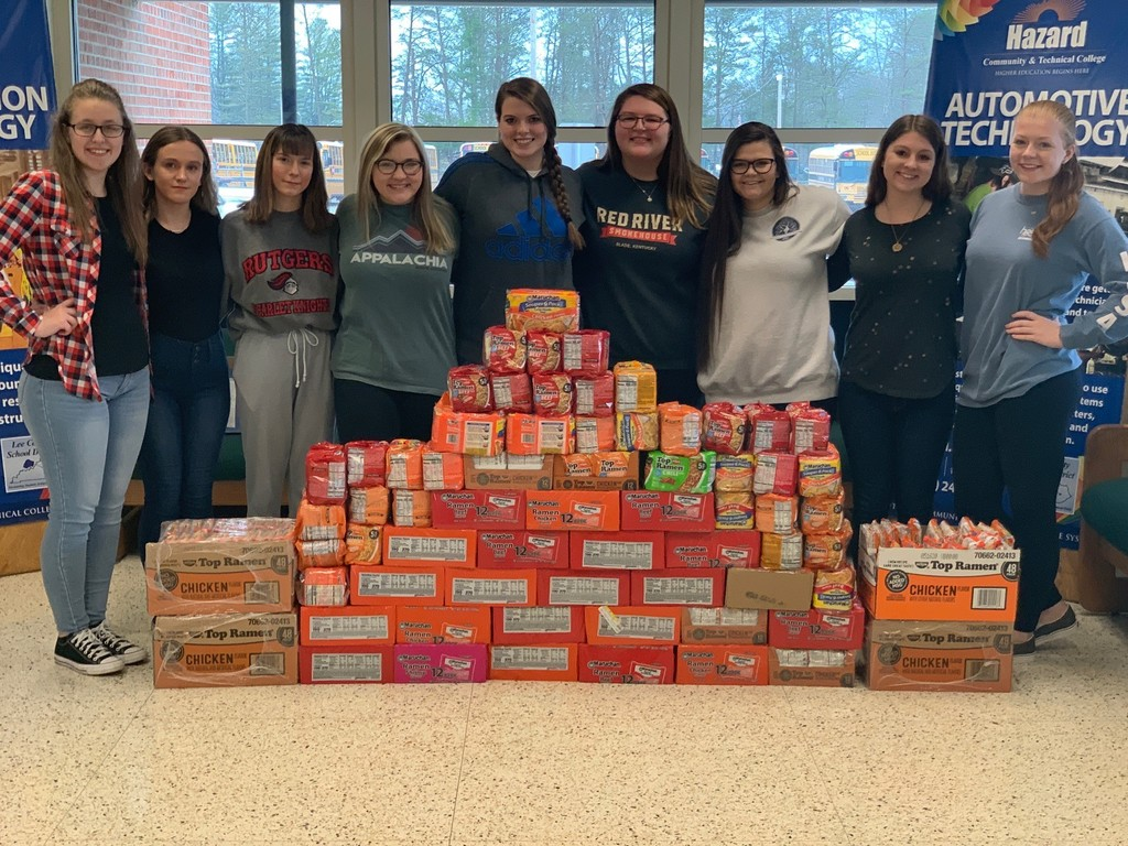700 packs of Ramen Noodle with HOSA students